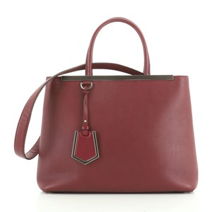 Fendi Leather 2jours Tote in red