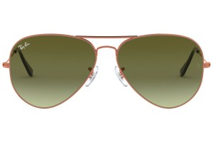 RAY BAN RAY BAN RB3026 BRONZE METAL AVIATOR GREEN GRADIENT LENS SUNGLASSES