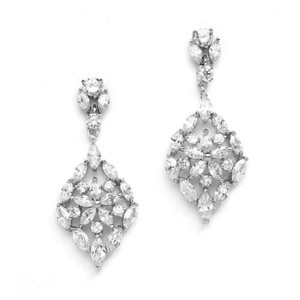 Gorgeous Vintage Style Mosaic Crystals Bridal Earrings