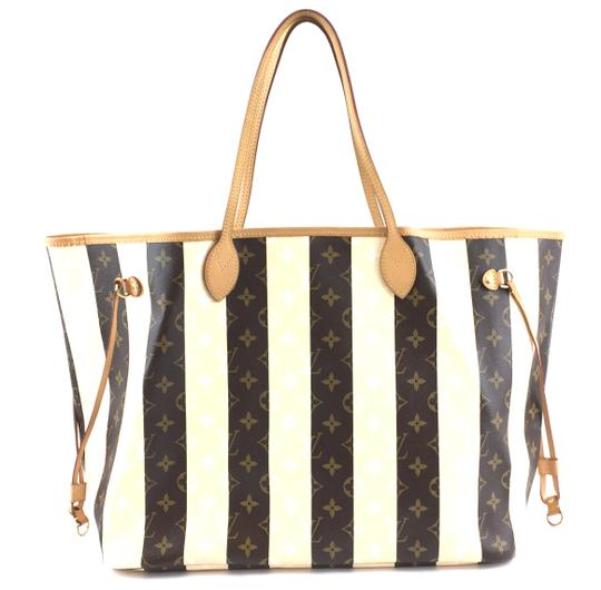 Preload https://img-static.tradesy.com/item/26434115/louis-vuitton-neverfull-34025-rare-limited-edition-gm-tote-work-brown-creamy-monogram-rayures-canvas-0-0-540-540.jpg