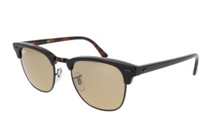 RAY BAN RAY BAN RB3016 TORTOISE CLUBMASTER Brown/Silver Mirror LENS SUNGLASSES