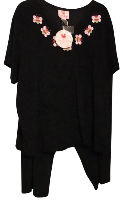 Item - Black with Multi Colored Bugs Rn117150 Shirt And Pant Suit Size 28 (Plus 3x)
