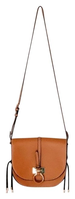 Item - Semicircular Brown Tan Faux Leather Cross Body Bag
