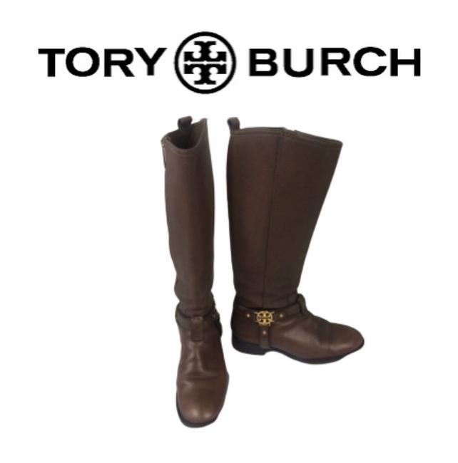 Tory Burch Brown Chocolate Boots/Booties Size US 5 Regular (M, B) Tory Burch Brown Chocolate Boots/Booties Size US 5 Regular (M, B) Image 1