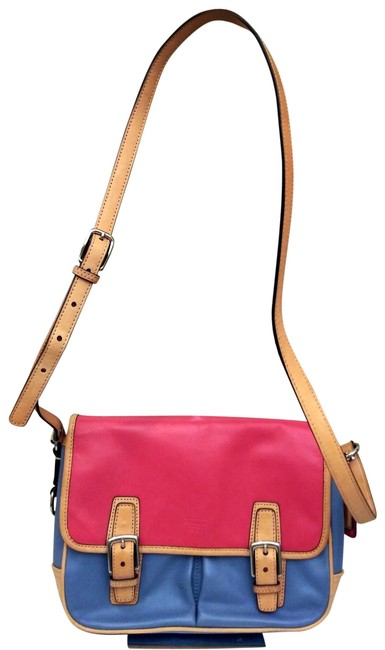 Item - Park Colorblock Flap F23383 Multicolor Leather Cross Body Bag