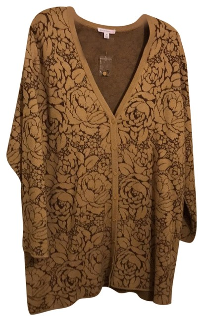 Item - Rn 81893 Brown with Tan Flowers Sweater