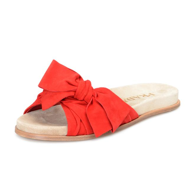 Item - Red Shoes-4465 Flats Size US 7.5 Regular (M, B)