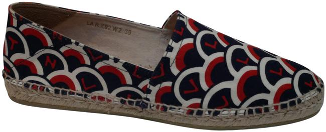 Item - Blue / Red Scale Motif Vltn Espadrilles Flats Size EU 39 (Approx. US 9) Regular (M, B)