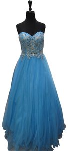Blush Prom Homecoming Pageant Blue Dress