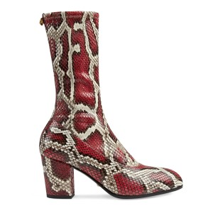 Gucci Red Grey Boots
