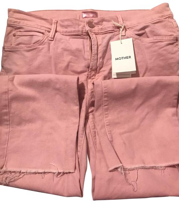 Item - Dusty Pink Light Wash The Rascal Ankle Snippet Straight Leg Jeans Size 12 (L, 32, 33)
