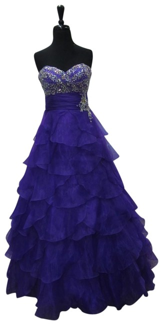 Item - Bright Purple 91039/ Long Formal Dress Size 8 (M)