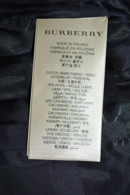 Burberry Black Wool Cashmere Removable Fox Fur Collar Us Eu 42 Coat Size 8 (M) Burberry Black Wool Cashmere Removable Fox Fur Collar Us Eu 42 Coat Size 8 (M) Image 11