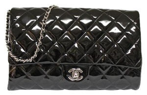Chanel Patent Leather Black Clutch