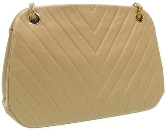 Chanel Quilted Lambskin Leather Chevron Shoulder Bag Image 1