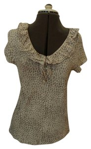 Ann Taylor LOFT Top brown and white