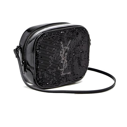 Saint Laurent Leather Monogram Cross Body Bag Image 1