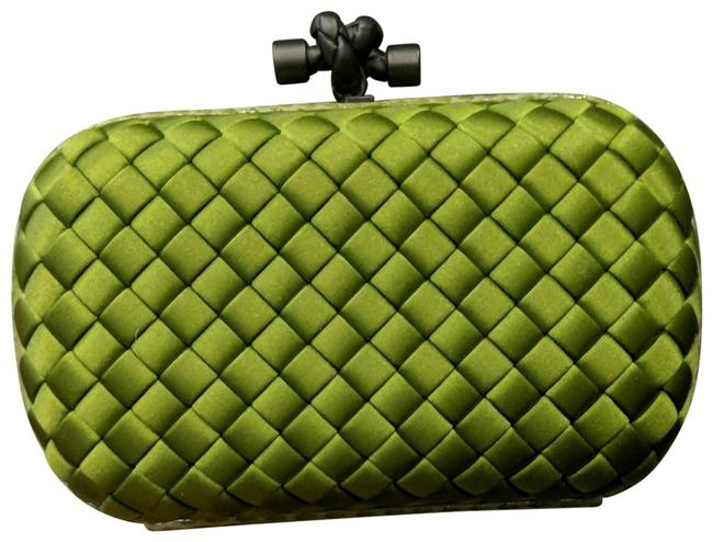 Item - Knot Green Satin Clutch