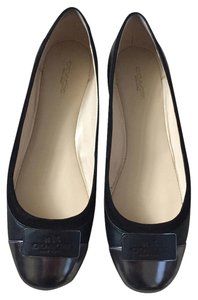 Coach Leather Suede Black Flats