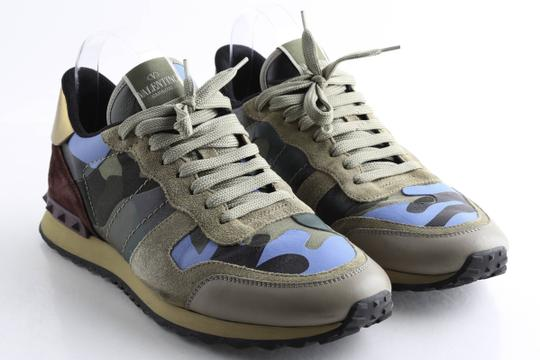 Valentino Multi-color Camouflage Rockrunner Sneaker Shoes Image 1