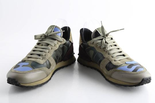 Valentino Multi-color Camouflage Rockrunner Sneaker Shoes Image 7