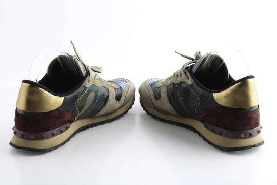 Valentino Multi-color Camouflage Rockrunner Sneaker Shoes Image 8