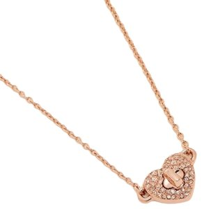 """Coach Coach TWINKLING HEART NECKLACE 18"""" w/Gift Box f 17101"""