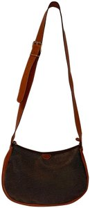 Bric's Leather Crossbody Two Tone Shoulder Bag