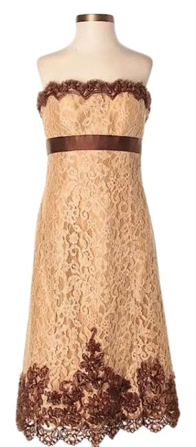 Item - Please Review Measurements To Ensure Proper Fit - Measures 16 Inches Underarm To Underarm and 35 Inches Long With Mid-length Formal Dress Size 4 (S)