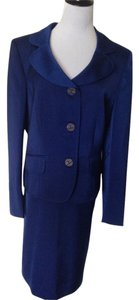 Kasper Dark Royal Blue Skirt Suit