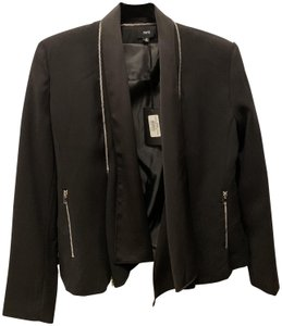 FATE Zipper Alexander Wang Inspo Work Black Blazer