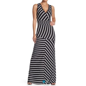 Black/Stripe Maxi Dress by Go Couture
