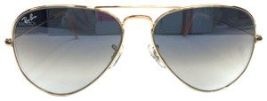 Ray-Ban RAY-BAN Sunglasses Aviator Gradient Gold Metal Light Blue Len