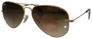 Ray-Ban RAY BAN AVIATOR Sunglasses Light Brown Gradient Lens, Gold Frame