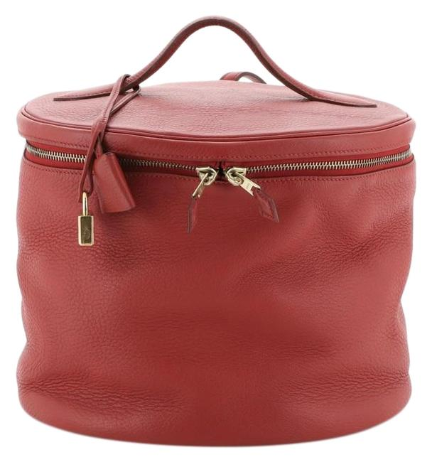 Item - Victoria Intercity Red Leather Weekend/Travel Bag