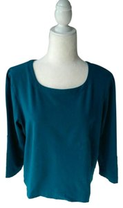 Weekenders Vintage Stretchy T-shirt Classic T Shirt Dark Turquoise Blue-Green