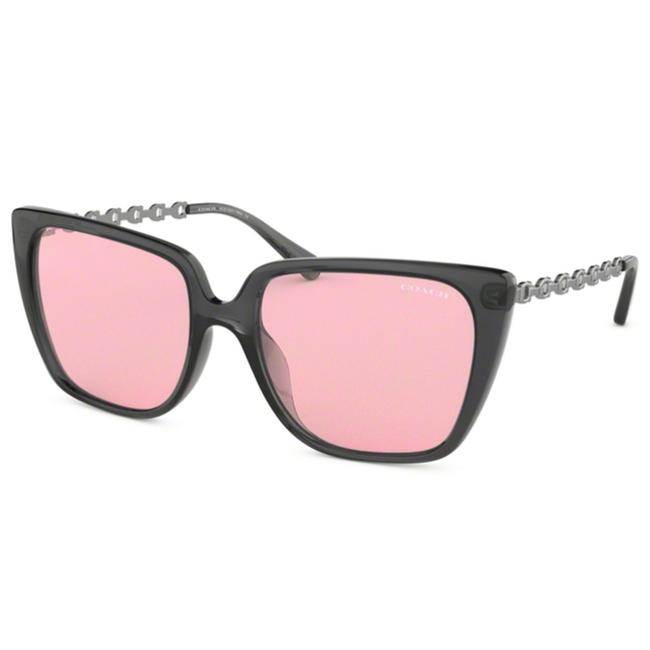 Item - Black Frame & Pink Flash Lens Hc8256u 55370 55 Women's Square Sunglasses