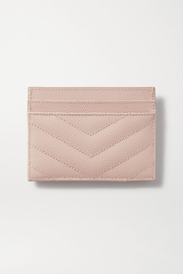 Saint Laurent Monogramme quilted textured-leather cardholder Image 1