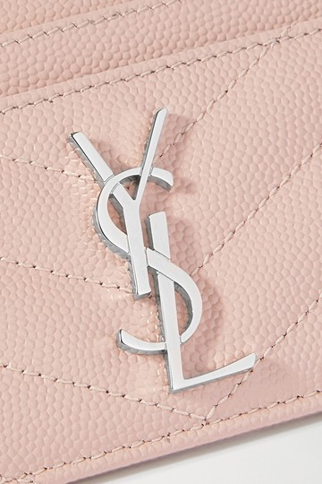 Saint Laurent Monogramme quilted textured-leather cardholder Image 3