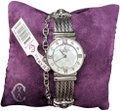 Charriol Charriol 'St Tropez' Mother of Pearl Diamond Dial Stainless Steel