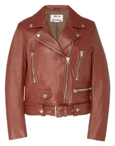 Acne Studios Brown Leather Jacket
