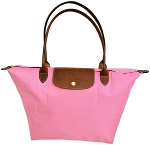 Longchamp Nylon Lepliage Tote in Pink