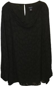 Doncaster Drape Neck Long Sleeve Size 24w New With Tags Top Black