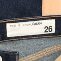 Rag & Bone Blue Dark Rinse Lou High-rise Crop In Clermont Capri/Cropped Jeans Size 26 (2, XS) Rag & Bone Blue Dark Rinse Lou High-rise Crop In Clermont Capri/Cropped Jeans Size 26 (2, XS) Image 8