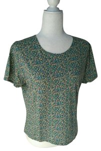 Woolrich Vintage T-shirt Classic Circle Top Green/Yellow/Tan