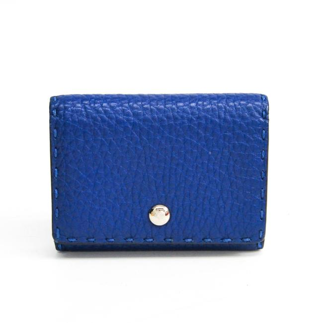 Item - Blue Selleria 8m0217 Leather Business Card Case Wallet