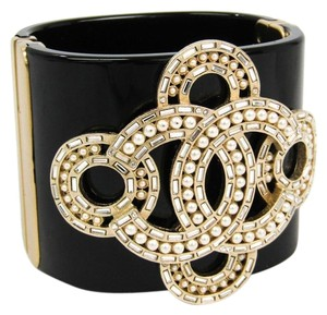 Chanel Chanel Coco Plastic,Shell Bangle Black