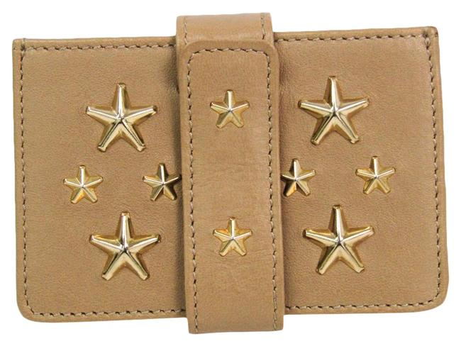 Item - Gold / Nude Beige Tiggy Cst 153 Leather Card Wallet