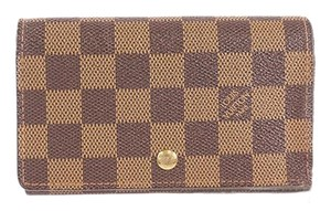 Louis Vuitton Louis Vuitton Damier N61730 Women's Damier Canvas Wallet (bi-fold) Ebene