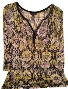 1f29a16a625265 Alfani Top Black and Yellow (Black and Yellow)